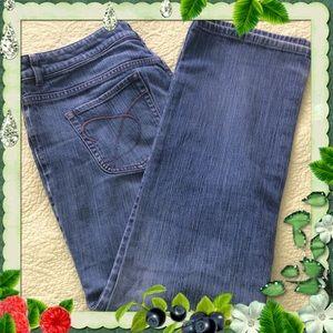 Chico's Platinum Blue Jeans Denim Size 3 XL Short